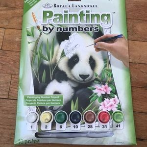 Other - NWT Paint by Number Panda Painting Kit
